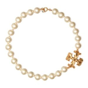 TORY BURCH • Roxanne Pearl Logo Necklace